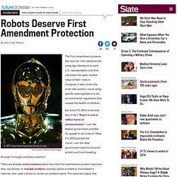 Robots, AI deserve First Amendment protection.