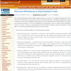 Why Every NRI Deserves a Virtual Assistant in India