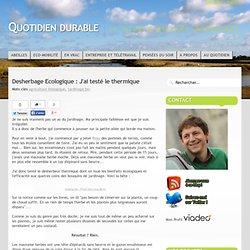 Desherbage Ecologique : J'ai testé le thermique