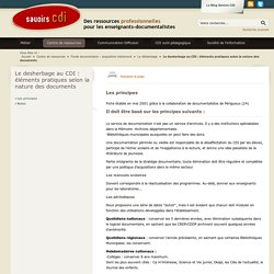 Le desherbage au CDI : éléments pratiques selon la nature des documents