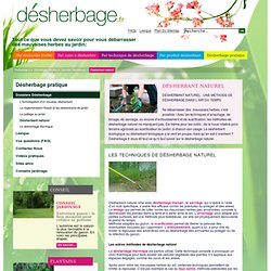 D sherber de fa on cologique pearltrees - Desherbant naturel efficace ...