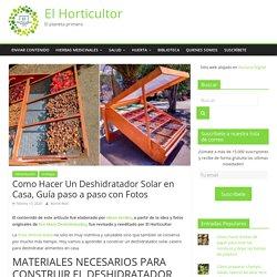 Como Hacer Un Deshidratador Solar en Casa, Guía paso a paso con Fotos » El Horticultor