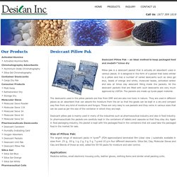 Buy Desiccant pillow pak