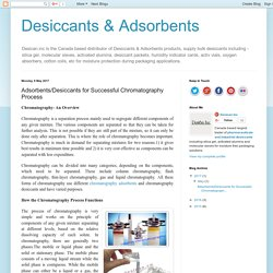 Adsorbents/Desiccants for column chromatography