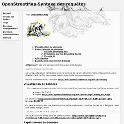OpenStreetMap-Syntaxe des requêtes