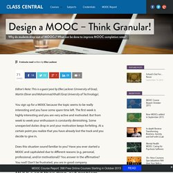 Design a MOOC – Think Granular!