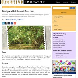 Design a Rainforest Postcard