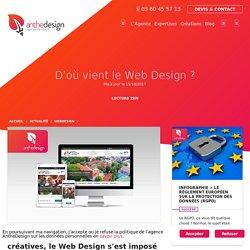 D'où vient le Web Design? - agence web AntheDesign