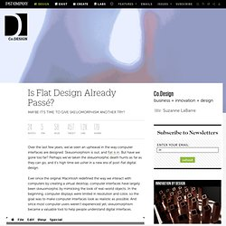 Is Flat Design Already Passé?