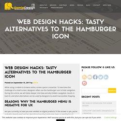 Web design hacks: Tasty alternatives to the hamburger icon