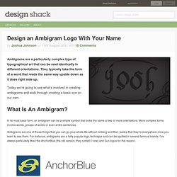 Design an Ambigram Logo With Your Name