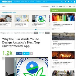 Why the EPA Wants You to Design America's Next Top Environmental App