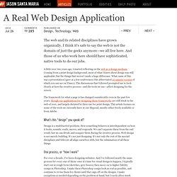 A Real Web Design Application