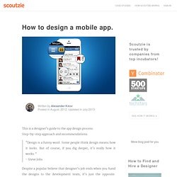 How to design a mobile application - Scoutzie.com