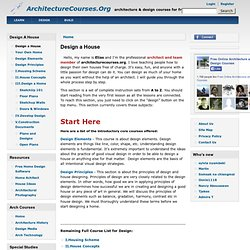 Design A House: Free Architecture Courses