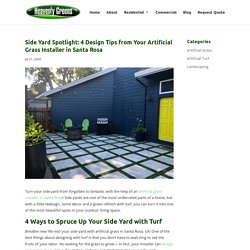 Side Yard Design Ideas from Artificial Grass Installer in Santa Rosa