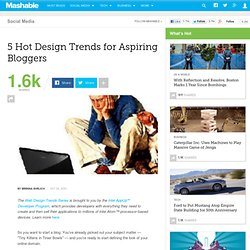 5 Hot Design Trends for Aspiring Bloggers