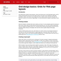 Grid design basics: Grids for Web page layouts