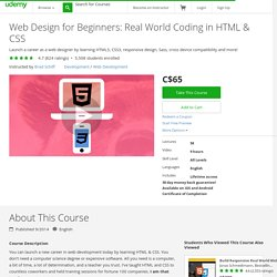 Web Design for Beginners: Real World Coding in HTML & CSS