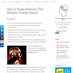 How to Design Behavior (The Behavior Change Matrix)