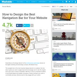 How to Design the Best Navigation Bar for Your Website