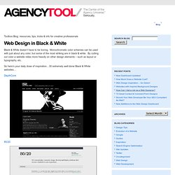 Web Design in Black & White | AgencyTool Blog