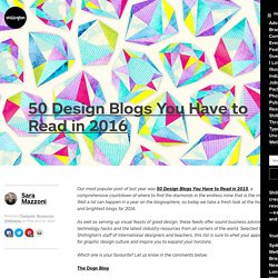 50 Design Blogs You Have to Read in 2016 - Shillington Design Blog