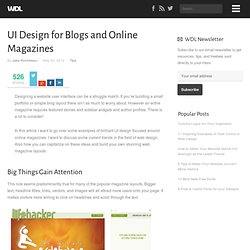 UI Design for Blogs and Online Magazines