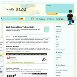Web Design Blogs To Read Daily, Web Development , Wezile