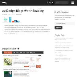 20 Design Blogs Worth Reading