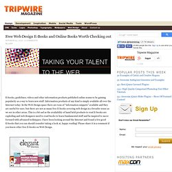 Free Web Design E-Books and Online Books Worth Checking out — tripwire magazine