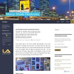Design Business Signs in Birmingham