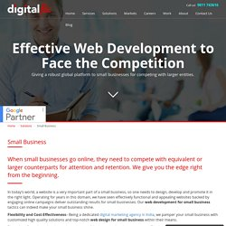 Giving the right web design solutions to small businesses to compete with their competition- Digital Flic