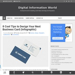 8 Cool Tips to Design Your Next Business Card (Infographic)