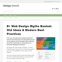 8+ Web Design Myths Busted: Old Ideas & Modern Best Practices