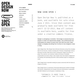 Open Design Now | Why design cannot remain exclusive