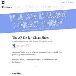 The AR Design Cheat Sheet - Prototypr