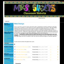 Web Design - Mrs. Sheets' Classroom Website