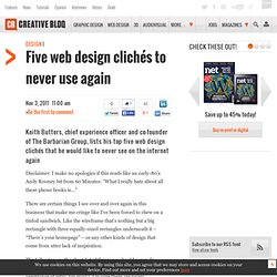 Five web design clichés to never use again