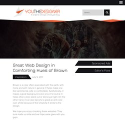 Great Web Design in Comforting Hues of Brown