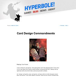 Card Design Commandments