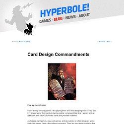 Card Design Commandments