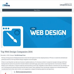 Top Web Design Companies 2016 - IT Firms