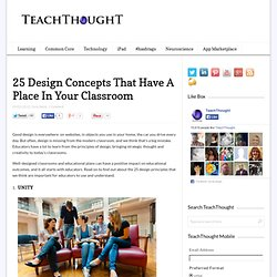 25 Design Concepts That Have A Place In Your Classroom