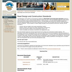 Road Design and Construction Standards