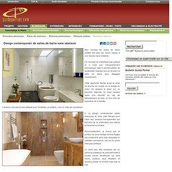 Design contemporain de salles de bains sans obstacle