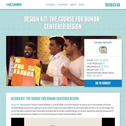 Human-Centered Design for Social Innovation » +Acumen