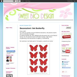 Decorazioni: Set Butterfly