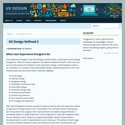 UX Design Defined 2 - User Experience - UX Design