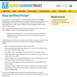 Design and Delivery Principles